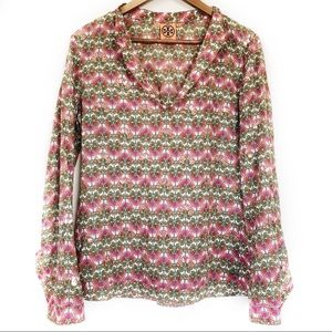 Tory Burch Floral Sequin Embellished Blouse